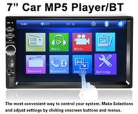 "Cheap double din 7""HD car mp5 player handsfree bluetooth usb sd car audio video player touch screen"