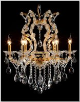 Wholesale Glass chandeliers crystal Meerosee maria theresa chandelier Gold Cristal Lustres Pendentes Lights MDS06 ready stock
