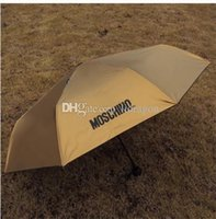 Wholesale Free DHL New Women Men Mo schino Sunny and Rainy Umbrella Sun protection vinyl sunshade anti uv umbrella Umbrella