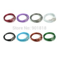 Cheap 10pcs lot Chunky Memory Wire Choker Collar Short Necklace For Women DIY Jewelry Material Findings F1769