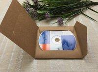 Wholesale Kraft Paper CD DVD Sleeves Envelope Case Cover CD Packaging Bag Storage