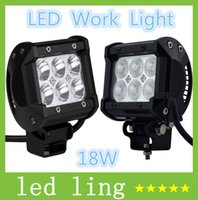 Wholesale 4Inch W CREE LED Working Light V Bar Spot Flood Beam LM JEEP Motorcycle Head Lamps Tractor Boat Off Road WD CE ROHS