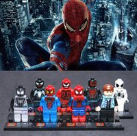 Wholesale 2015 new Justice League toys Spider Man building blocks toys Superheroes Action Figures Super Heroes DIY toys for Christmas children s gift