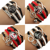 Wholesale NEW Sideways Mix Charm Music Super Star seconds of summer sos Bracelets Wristbands Jewelry Fans