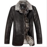 Wholesale 2015 explosion Newest Fashion Warm Winter Genuine Leather men Jacket lapel sheep zipper coat lamb Fur special offer