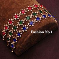 Wholesale 18K Gold Filled Bracelet For Women Clear Rhinestone Crystal Bracelets Bangles Anniversary Wedding Women Bracelet