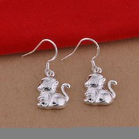 Wholesale Top quality Foreign jewelry fashion Plated Sterling Silver Earrings monkey earrings Korean pop earrings for women hot sale