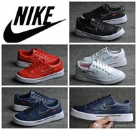lady leisure shoes - Supreme x Nike SB GTS Men Sports Skateboarding Shoes new arrival Cheap Nike casual leisure leather Shoes for women and ladies