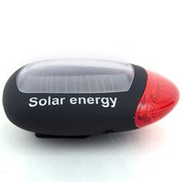 bicycle powered energy - Bicycle Red LED Super Bright Solar Power Energy Bike Rear Lamp Tail Light B069