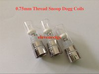 Cheap 0.75mm Snoop dogg atomizers Rebuildable coil Heating Chamber with glass tube Dry Herb Wax herbal vaporizers pen Replacement