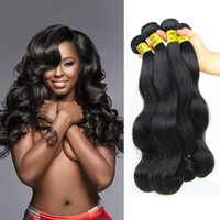 Brazilian Hair virgin hair extensions - 6A Unprocessed Brazilian Straight Body Loose Deep Wave Hair Weft Human Remy Virgin Hair Peruvian Indian Malaysian Hair Extensions Dyeable