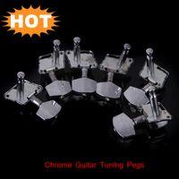 Wholesale Chrome Guitar Tuning Pegs Tuner Machine Heads Bushings Ferrules Screws Kit Guitar Parts Accessories order lt no track
