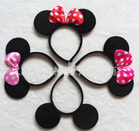 Plastic animal gifts for adults - 2016 Kids adult minnie mouse micky mouse ears headband Children s Hair Accessories for chirstmas gift