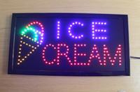 animated ice cream - Animated Led Neon Light Business ICE CREAM Sign White Blue Yellow Flicker US162