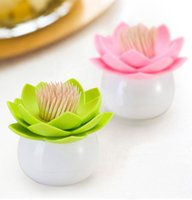 Wholesale Personality fashion toothpick box lotus Flowers Design Totthpick Holders October Style Hot Sale In Stock