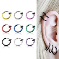 belly button plugs - 1pc Surgical Stainless Steel Nose Rings U Shape Nose Rings Piercing Body Jewelry ear plugs belly button ring colors for choose