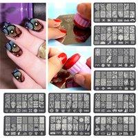 nail stencils - New Arrivals Nail Stencil Hollow Art Sticker Decals DIY Irregular Pattern Stainless Steel Fashion ID5