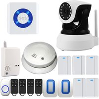 Wholesale Wireless doorbell Home Security Camera Monitor Fire System With have Alarm And Remote Control Functions For iPhone iPad Android IOS