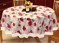 Wholesale PVC waterproof and oil proof ironing table cloth rural disposable plastic table mat tablecloth lace Europe type tea table cloth