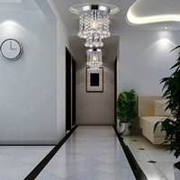 Wholesale Luxury Ceiling Light Living Room Decor Crystal E14 LED Ceiling Lamp Chandelier Ceiling Corridor Balcony Hallway Fixture Lighting