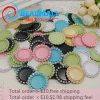 Wholesale Min order Hot Selling diameter inner size20 Blank with Colorful Rhinestones Flat back for Bows Pendants