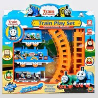 Wholesale train track tomas electric train set Baby educational toys Small electric splicing rail train birthday gift Boy toys