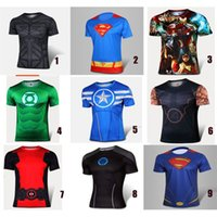 america cool - Super Men Cloth Fitting T shirts Cool Captain America T shirts Slim Polyester Iron Man Wear Clothing for Men Hot Sale
