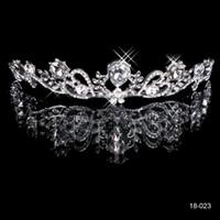 Wholesale Cheap Bridal Tiaras Headbands K White Gold Crystal Rhinestone Princess Crown Wedding Crowns Queen Bride Hair Jewelry Accessories Die krone