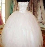 Wholesale Elegant Sweetheart Off Shoulder Fashion Beaded Floor Length Ball Gown Wedding Dress Lace Up Wedding Gowns
