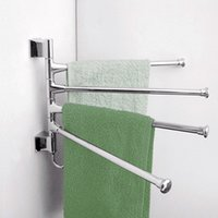Wholesale Stainless Steel Towel Bar Rotating Towel Rack Bathroom Kitchen Towel Polished Rack Holder Hardware Accessory PTSP