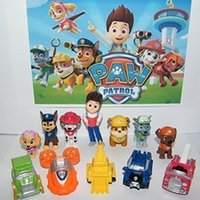 best dog toy - Paw Deluxe Mini Figure Patrol Toy Play Set with Ryder Plsh Dogs And Pup House Vehicles set of Kids Best Toys