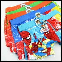 Wholesale 3D Cartoon Boys spiderman Underwear Boy Spider Man underpants kids boy cotton underpants student briefs knickers with retail package