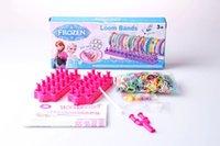 Cheap Best Xmas Gift Frozen Anna Elsa Olaf Rainbow Loom Kit DIY Wrist Bands Rainbow Loom Bracelet for kids 600pcs