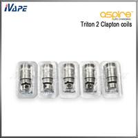100% Original Aspire Clapton Bobines tête 0.5ohm pour Triton 2 réservoir Atlantis Atomizer Aspire Triton 2 Atlantis bobines de remplacement