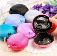 Wholesale YIYUAN Earphone Hard Case Bag Earphone Storage Mesh Bag Purple blue black pink silver red Rose DHL