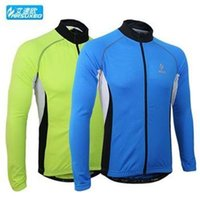 Wholesale 2014 arsuxeo men s cycling jersey jacket in winter autumn with long sleeve cycling top of breathable anti UV bicycle wear clothing