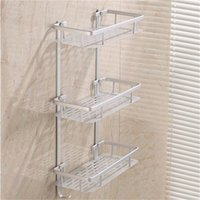 aluminium bathroom accessories - Hanging Cosmetic Make Up Shower Rack Storage Aluminium Bathroom Soap Kitchen Shelf Accessories Holder Layers Optional