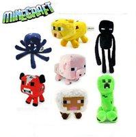 Cheap Minecraft dolls Plush Animals Toys Minecraft Game Cartoon Bull Pig Toy Kids Children Birthday Gifts Brinquedos 7 different style