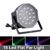 Wholesale 18 W Led Stage Light High Power RGB Professional Par Wedd Stage DJ Lighting Auto Sound DMX512 Master Slave Led Flat par light