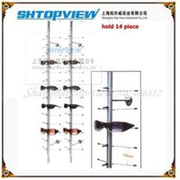 Wholesale NOC C Top View Glass Display Stand Without Lock Aluminum Alloy Material Sunglass Display Stand CM Length Glass Display