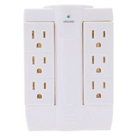 side socket - Multifunctional Side Swivel Socket Outlet Space Saving Universal Adapter Wall Power Strip Electrical Plugs V H13666