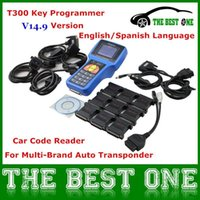 Wholesale Sale Universal Auto Car Key Programmer T300 Auto Code Reader T Newest V14 Key Transponder Work on Multi Cars