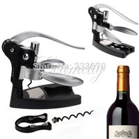 Wholesale 1 set Multifunctional Rabbit Red Wine Opener Tool Cork Bottle Tire Corkscrew Collar Pourer Gift Box