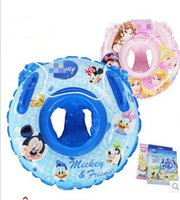 Wholesale children years old boys and girls Mickey Princess wim ring authentic Baby Child safety seat lap swimming laps armpit D0033