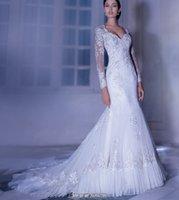 Cheap Trumpet/Mermaid 2014 Wedding Dresses Best Reference Images V-Neck Mermaid Wedding Dresses