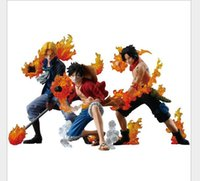 attack years - 3pcs set One Piece Attack Styling Luffy Sabo Ace PVC Action Figures Collectible Model Toys