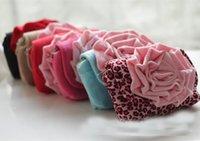 fashion fabric handbags - 2015 Kids Girls D Flower crossing Handbags Baby girl Fashion Soft Fabric Tote princess massanger bags