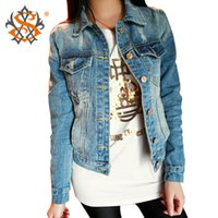 Wholesale New Fashion Spring Autumn Vintage Denim Jackets Women s Jeans Short Coat Ladies Jean Tops For Girls Outwear Z8