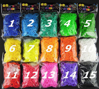 Cheap Rainbow loom Rubber bands 20 Colors Loom Bands (600 bands + 24 clips) kit for kids rainbow loom bands colorful Rubber refill bag