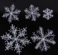 Wholesale 11cm Plastic White Snowflake For Christmas Tree Window Showcase Decoration Ornaments Party Gift Fast DHL